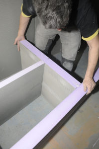 Nouveaux produits b timents jackon une salle de bains design et personnal - Panneaux de construction hydrofuges en mousse dure de polystyrene ...