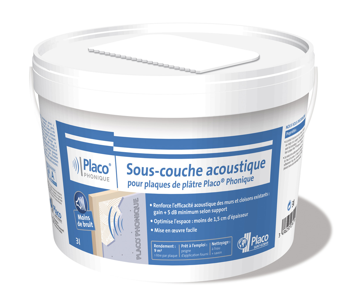Placo sous couche acoustique placo phonique le blog du b timent - Isolation phonique placo ...