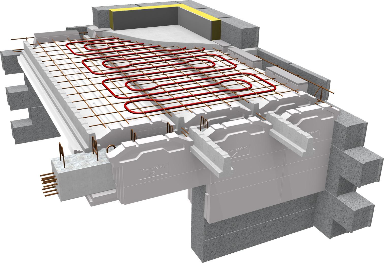 Le plancher b ton pr fabriqu avec chauffage int gr 2 en for Chauffage pour rt 2012